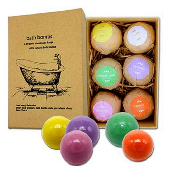6pcs Deep Bath Salt Body Oil Moisturizing Bath Ball Natural Bubble Bath Salt Ball 4