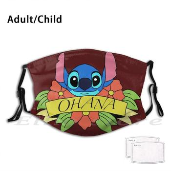 Reusable Scarf Mask Filter Mask Lilo And Flowers 626 Cute Means Family Walt image