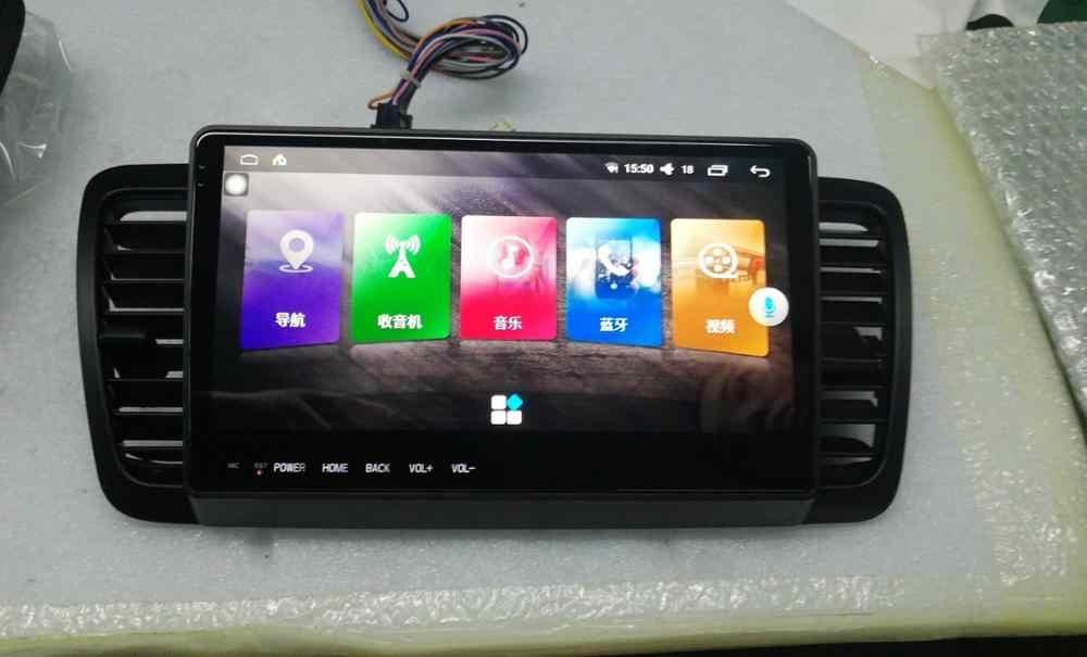 9.66 インチナビゲータークアッドコア車マルチメディアプレーヤーインテリジェント HD 容量性スクリーンオーディオビデオハンズフリー DVD スバルレガシィ用