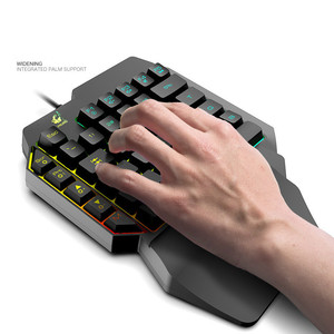 Image 4 - Left Hand Keyboard Single Hand Keyboard Mechanical Feel Game Keyboard for Mobile Tablet Laptop PUBG Game