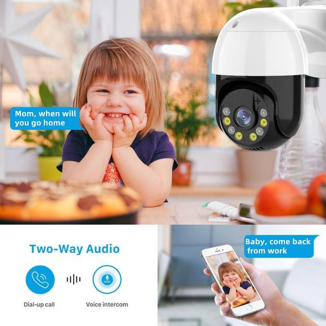 3MP PTZ WIFI IP Camera Outdoor 4X Digital Zoom Night Full Color Wireless H.265 P2P Security CCTV Camera Two Way Speak Audio 3