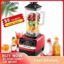Electric Professional Blender BPA Free Commercial Household Mixer Juicer Ice Smoothies Maker Food Processor Fruit Blender