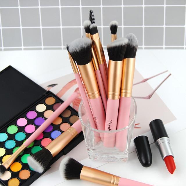 14Pcs Fashion Makeup Brushes Set Eye Shadows Powder Foundation Cosmetics Beauty Soft Hair Maquiagem Brushes Tool Kits 4