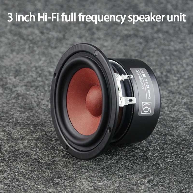 KYYSLB AS-30QY01 <font><b>15W</b></font> 4-<font><b>8ohm</b></font> 3-inch Hi-Fi Full-range <font><b>Speaker</b></font> Unit Fine Treble Bright Midrange Thick Bass Fever <font><b>Speakers</b></font> Horn image