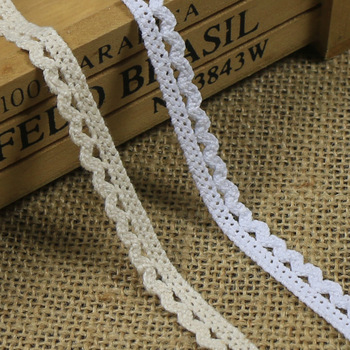 High quality tire cotton dog bit edge Y01004 DIY clothg textiles lace 1 cm wide DIY fashion