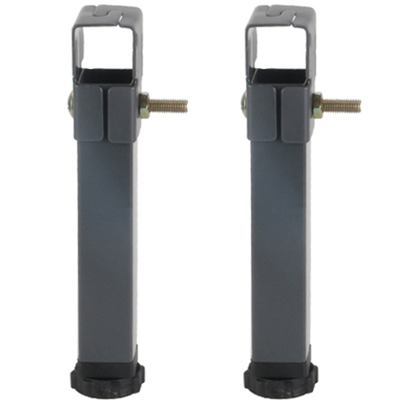 New-2 Pcs Adjustable Height Clamping Tube Leg Metal Square Bed Lifting Table Legs For Tatami Bed Frame Fixed Support Feet