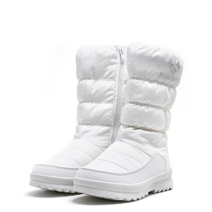 Image 2 - MORAZORA ビッグサイズ 36 41 新ウォーム雪のブーツの女性ジッパープラットフォームブーツ無地防水ミッドカーフ厚い毛皮の冬のブーツ