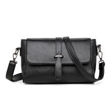 цена Women's Casual Shoulder Bag Waterproof Black Top Layer Cowhide Texture Crossbody Bag в интернет-магазинах