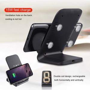 Image 3 - FDGAO Soporte de cargador inalámbrico para iPhone, soporte de carga rápida de 15W Qi para iPhone 12, 11 Pro, XS, MAX, XR, X, 8, Samsung S8, S9, S10, S20