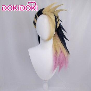 DokiDoki Game League of Legends Cosplay KDA Akali LOL K/DA Costume Wig Halloween