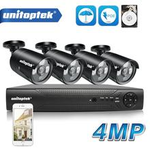 4CH Cctv Camera Systeem 48V Poe Nvr Kit Onvif Waterdichte 4.0MP Poe Ip Camera Outdoor Video Security Surveillance Systeem