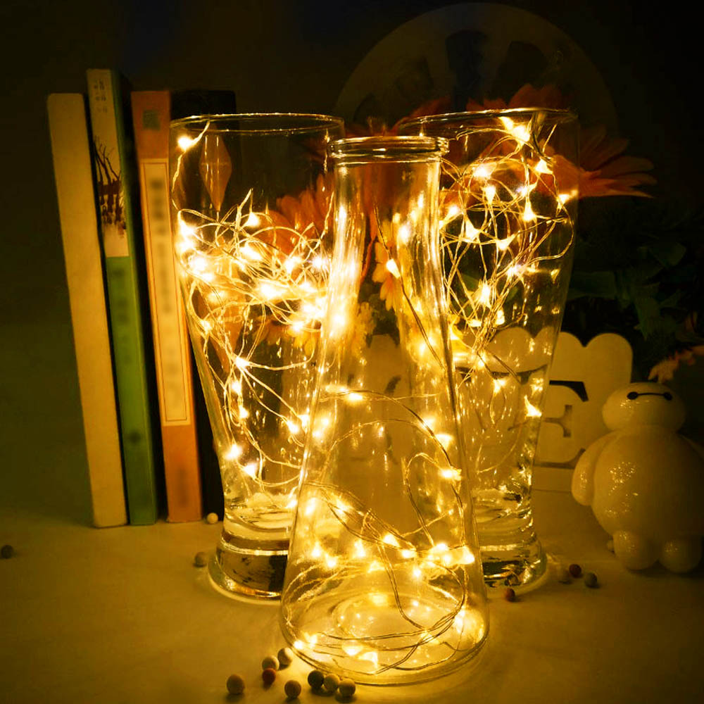 LED String Lights Sliver Wire IP65 Waterproof Fairy Christmas Tree Lights Outdoor Flexible Garland Beautiful Decorative
