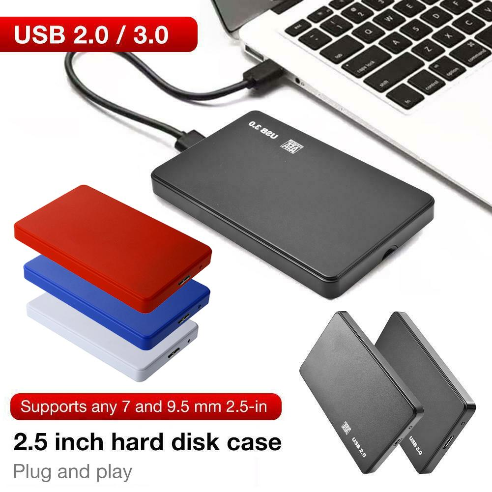 2.5 HDD Case <font><b>Sata</b></font> to USB HDD <font><b>SSD</b></font> Enclosure USB3.0 2.0 Mobile Hard Disk Case Box for Laptop Black Blue disco duro externo case image