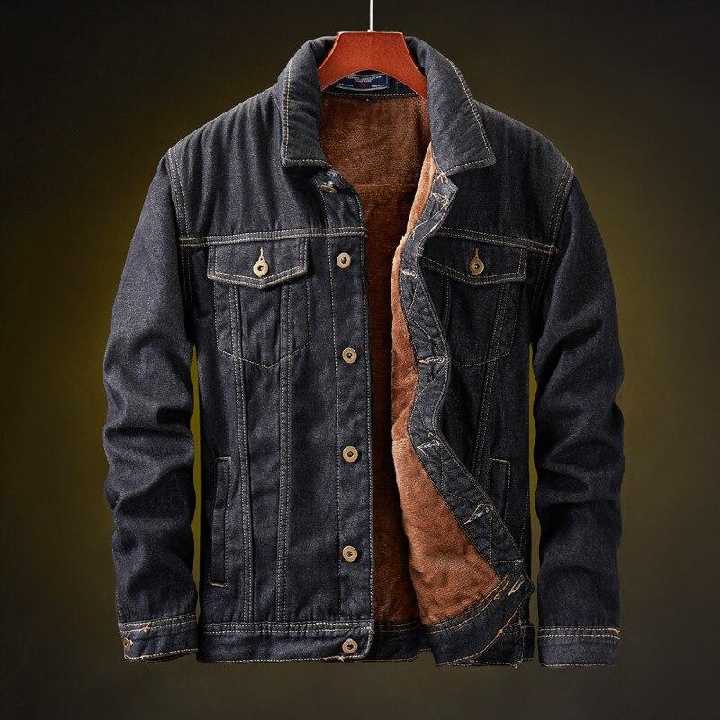 Hee81936c1bec45eaa128fe8aa6203b46q MORUANCLE Men's Winter Warm Jean Jackets And Coats Fleece Lined Thicken Thermal Denim Trucker Jacket Outerwear Plus Size M-5XL
