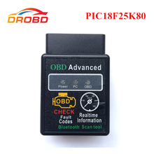 Teşhis aracı OBD2 ELM327 V1.5 ile PIC18F25K80 çip ELM 327 V 1.5 Bluetooth 3.0 Android için otomatik kod okuyucu