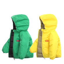 Children Jacket Outerwear Boy and Girl Autumn Warm Down Hooded Coat Teenage Parka Kids Winter Jacket Size 2 -13 Years(China)
