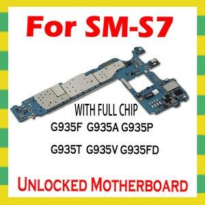Image 2 - Original desbloquear mainboard para samsung galaxy s7 borda g935f g935p g935t g935v g935a g935fd g935w8 placa mãe lógica