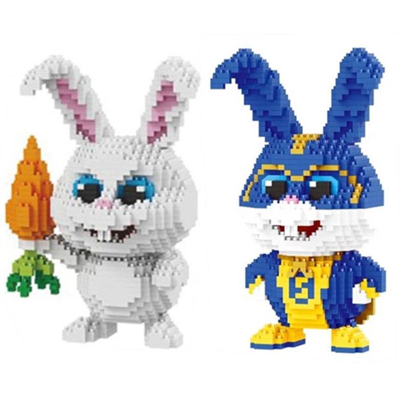 Balody White Rabbit Pet Animal Carrot DIY Diamond Mini Building Nano Blocks Toy