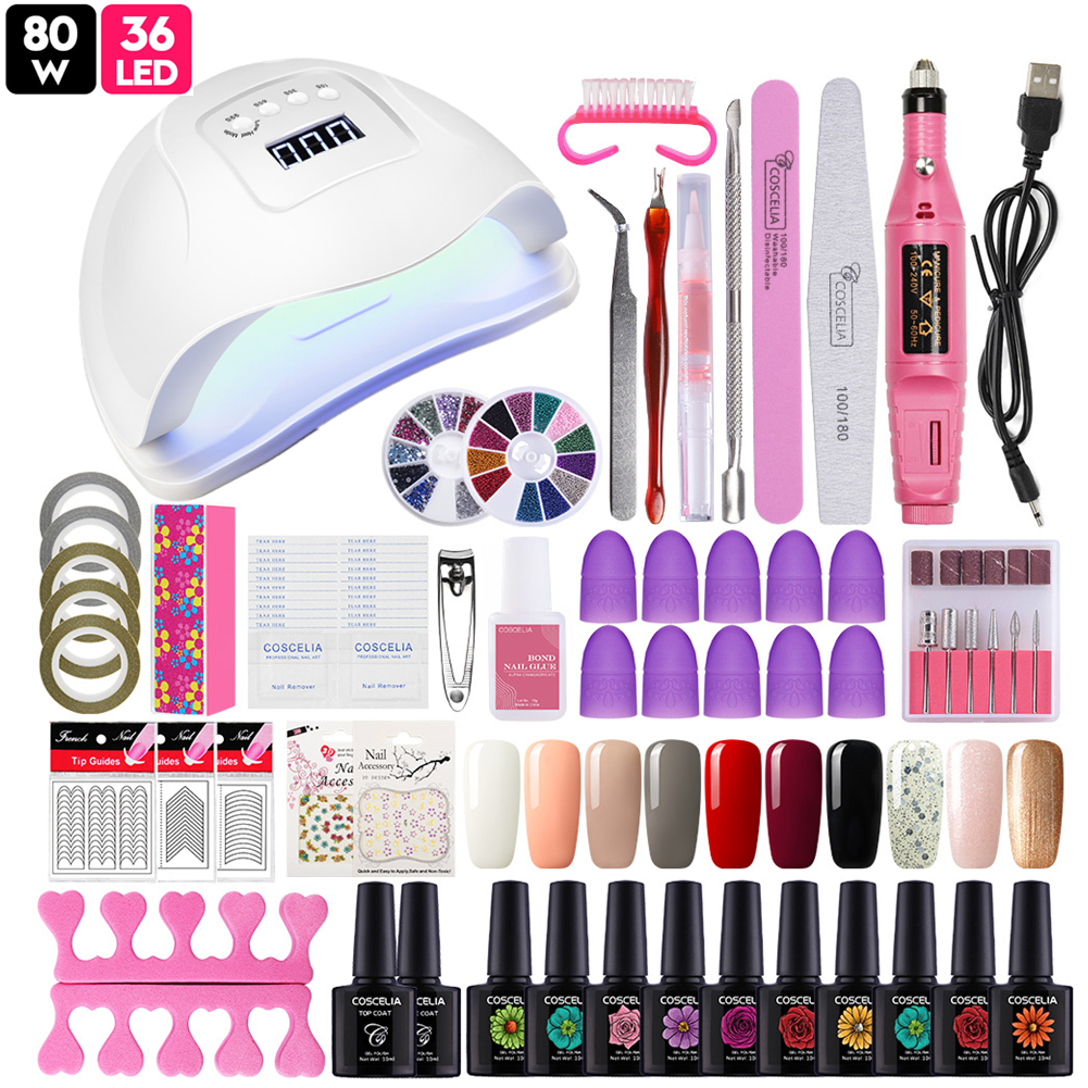 UV Gel Nail Kit With Lamp:50% OFF Buy Now Limited Time