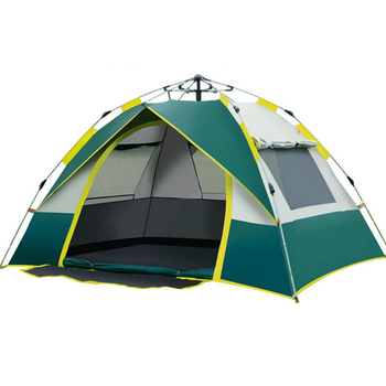 цена на Automatic Camping Tent, 3-4 Person Family Tent Double Layer Instant Setup Protable Backpacking Tent for Hiking Travel