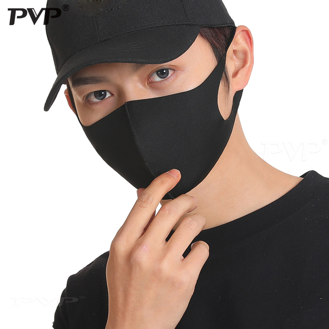 1/3PCS Ice Silk Masks Washable Anti Dust Allergies Mask Travel Reusable Adjustable earloop straps support long-time usage Cotton 3
