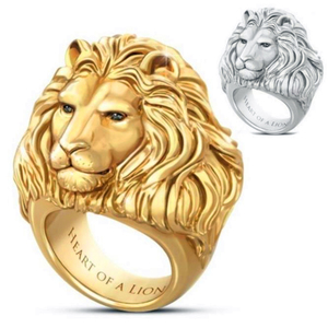 Loredana For Men Fashion Features Dense Long-Haired Lion Head Metal Ring Animal Pattern Alloy Ring As A Gift For Men And Women(China)