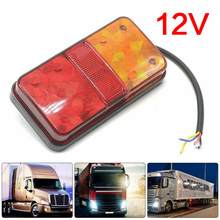 1 Paar 12V Duurzaam Achter Stop Led Lights Tail Brake Indicator Truck Van Lamp Trailer Licht Waterdicht Voor Trailer caravans Boten(China)