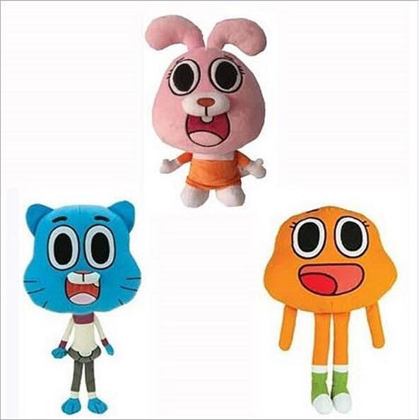 25cm  Cartoon Amazing World Gumball Cat Plush Toy Dolls For Kid Gift