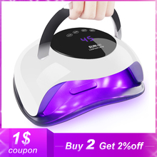 Secador de uñas de alta potencia de 72W, lámpara de LED UV para todo tipo de geles, con temporizador y Sensor inteligente