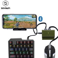 Plug and Play PUBG Mobile Gamepad Controller Gaming Keyboard Mouse Converter For iPhone to PC Adapter Dual Mode Connect Android(China)