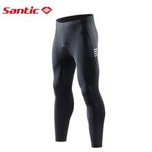Santic мужские велосипедные брюки 4d с подкладкой компрессионные