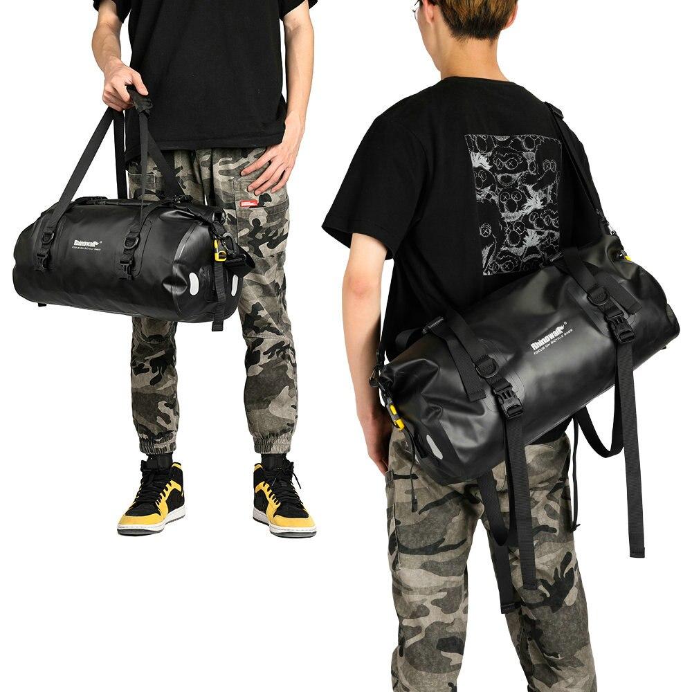 Купить с кэшбэком Rhinowalk Bicycle Saddle Bag Full Waterproof Travel Handbag Casual Cycling Bike Luggage Carrier Bag Shoulder Crossbody Bag 20L