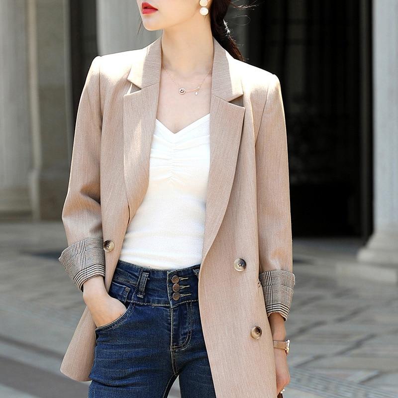 Elegant women's small suit feminine jacket coat 2020 Korean version of the new professional long-sleeved ladies blazer