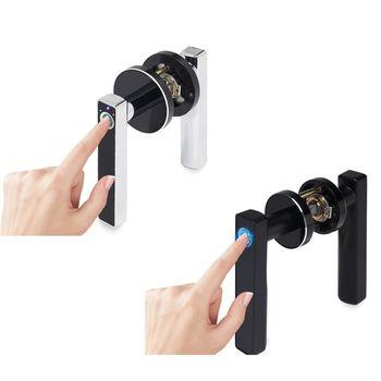 Durable Smart Security Door Lock Intelligent Electronic Fingerprint Lock Indoor Anti-Theft Biometric Handle Locks for Home Bedro