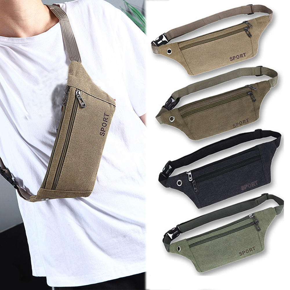 New Fashion Waist Bag Waterproof Waist Bum Bag Running Jogging Belt Pouch Zip Fanny Pack Sport Runner Crossbody Bags Hip Purse