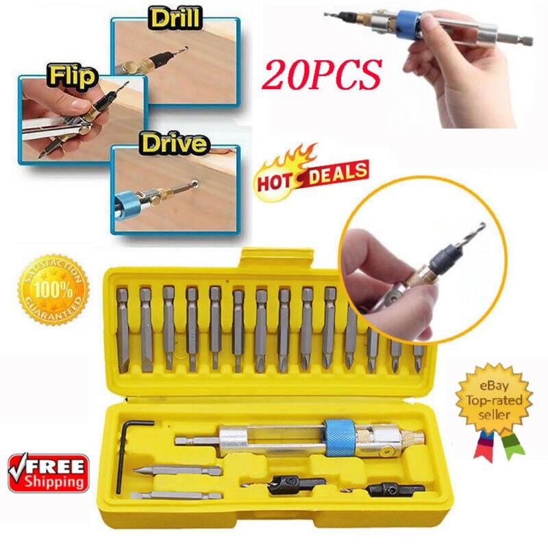 20PCS Swap Drill Bit - SAVE TODAY SWAP DRILL BIT-SET Box Tools Kit - FAST SHIPPING