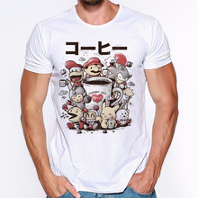 Pokemon Printing T-Shirt Men's Fashion Casual Short Sleeves Tees Boys Cotton T Shirt  Short-sleeve Men Round Neck Tshirts