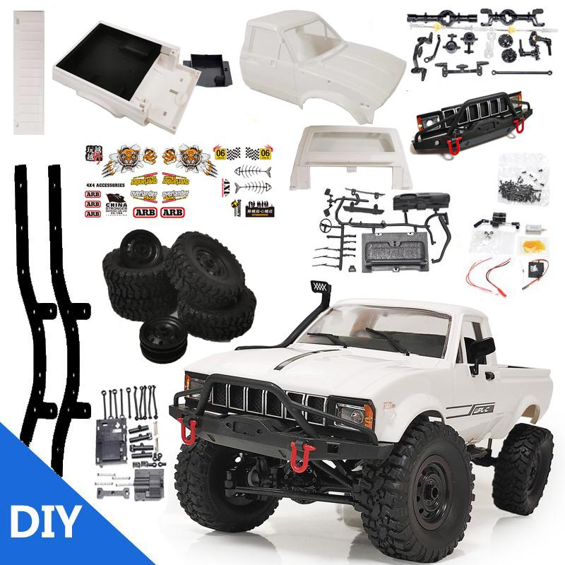 WPL C24-1 4WD 1/16 Kit 2.4G Crawler Off Road RC Car 2CH Vehicle Models With Motor Servo and Head Light