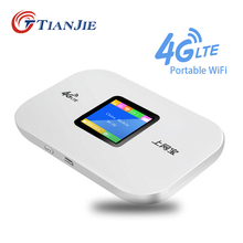 TIANJIE 4G Sim Card Wifi Router CAT4 150Mbps Wireless Modem Router LTE FDD/TDD Mobile WIFI Unlock pocket Router hotspot portable