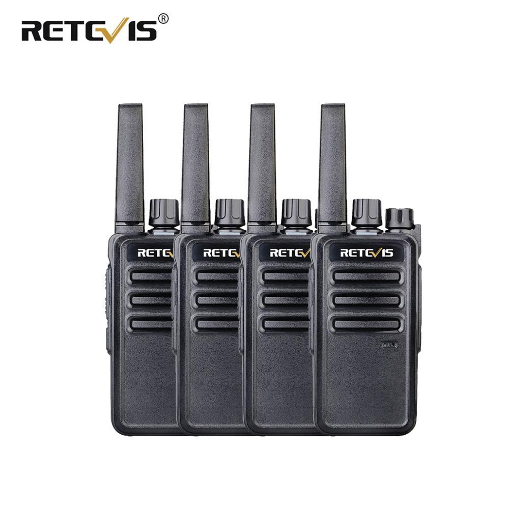 Retevis RT68/668 Walkie Talkie 4Pcs PMR/FRS Two-Way Radio Portable Radio Station Hotel/Restaurant Walkie-Talkie CTCSS/DCS VOX
