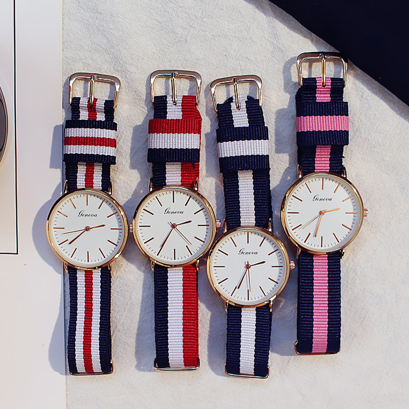 Couple Watch Men And Women Fashion Casual Nylon Strap Wrist Watch Couple Gift Clock Montre Unisex Free Shipping Lover's Watches