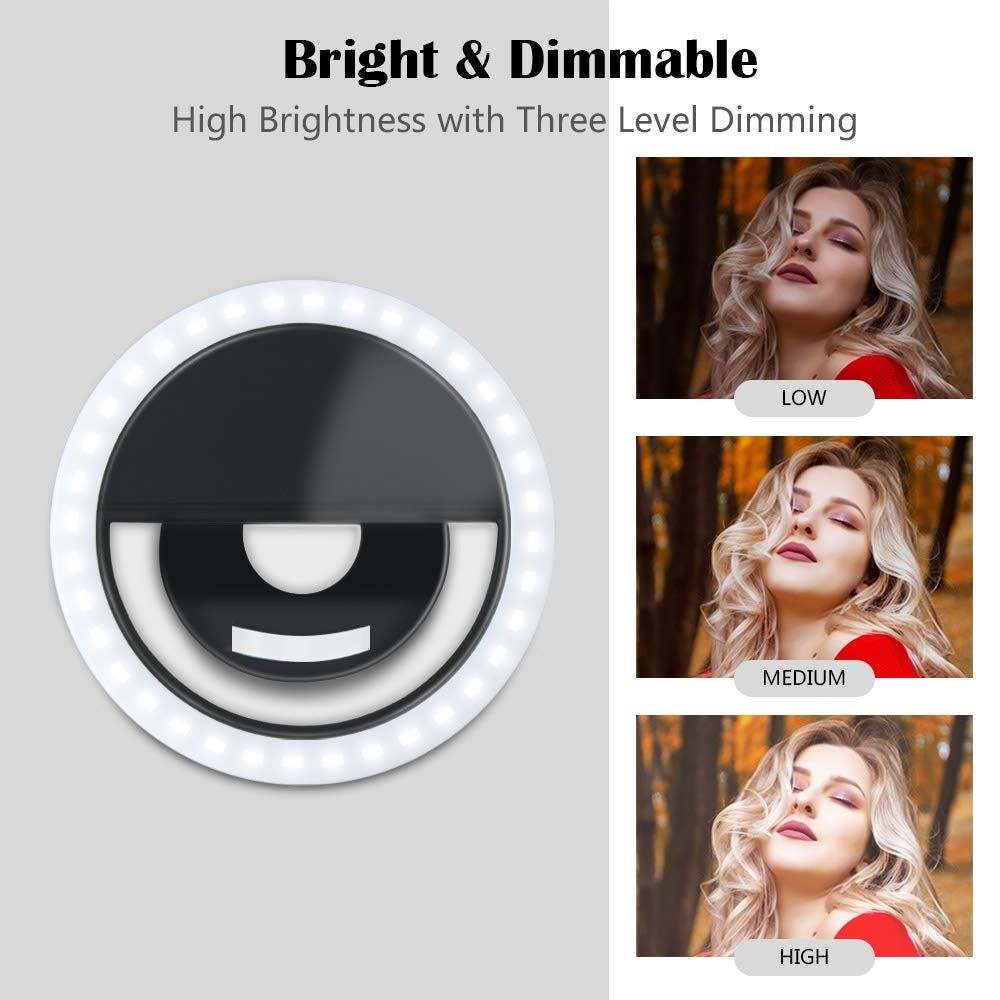 USB Charger Led Selfie Ring Light Rechargeable Portable Clip-on Selfie Fill Light For Cell Phone/Girl Make-up