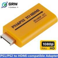 Für PS1/PS2 zu HDMI-kompatibel Adapter Konverter Bis to1080p Ausgang Für Monitor Projektor Konvertieren Video/Audio spiel Stecker und Spielen