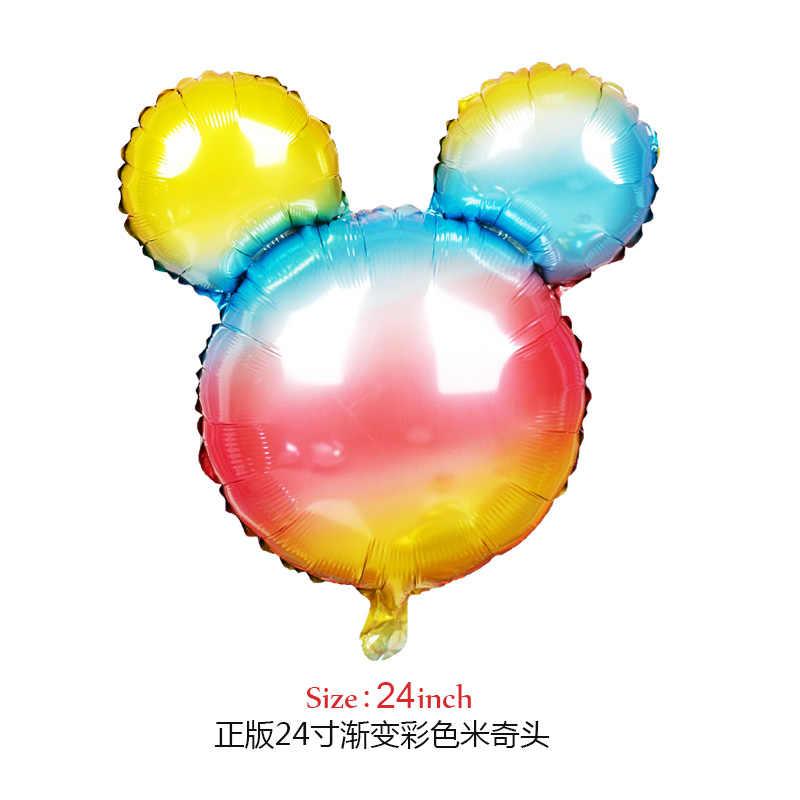 112cm ענק מיקי מיני מאוס בלון רדיד קריקטורה מסיבת יום הולדת בלון ילדי יום הולדת ילדי מתנה