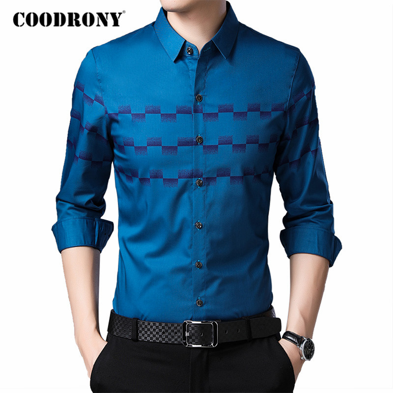 COODRONY Brand Fashion Long Sleeve Shirt Men 2020 Spring Autumn New Arrival Business Casual Shirts Mens Soft Chemise Homme C6041