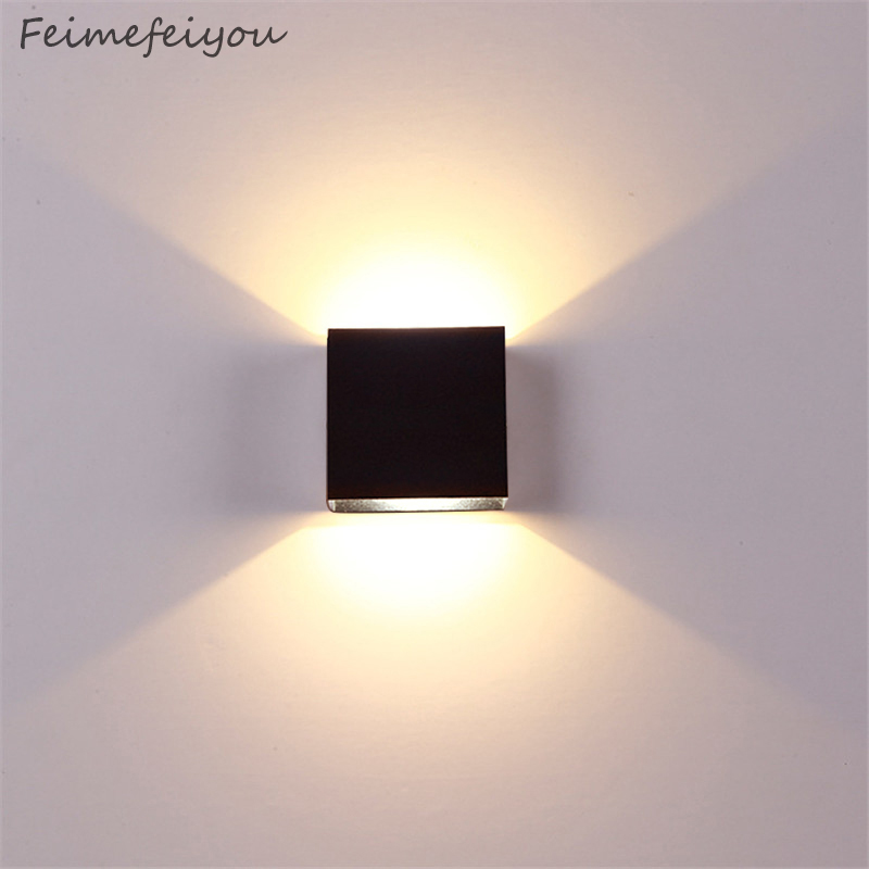 Christmas Dimming Lampada Luminaria LED Aluminium Wall Light Rail Project Square LED Lamp Bedside Room Bedroom Hotel Tv Lighting