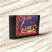 Aladdin الولايات المتحدة الأمريكية علامة فلاش كيت MD بطاقة ذهبية PCB لـ Sega Genesis Megadrive وحدة تحكم ألعاب الفيديو