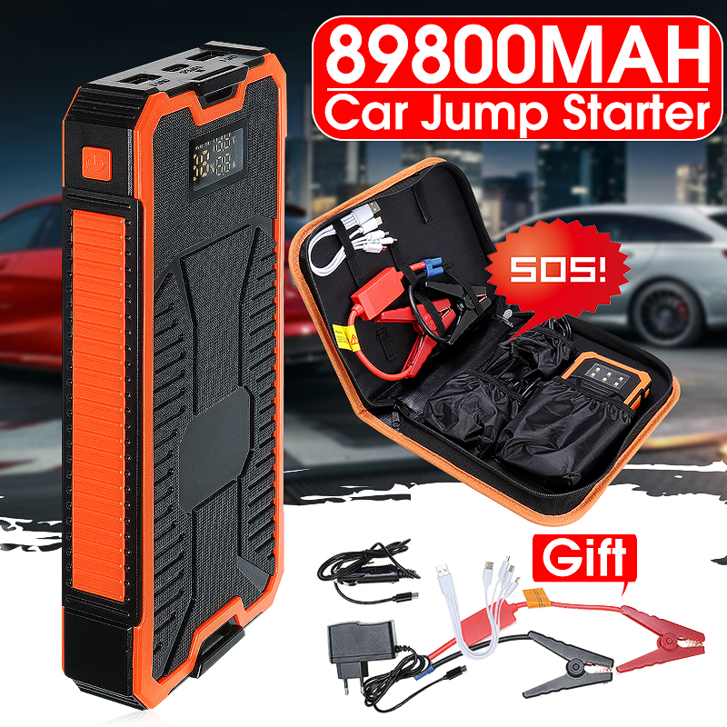 Jump-Starter Car-Battery-Booster Emergency-Power-Bank Charger USB with Dual-Usb Output title=