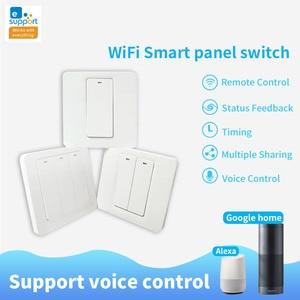 Image 2 - Lonsonho eWeLink Smart Wifi Switch 1 2 3 Gang Push Button EU UK 220V Wireless Remote Control Works With Alexa Google Home Tmall