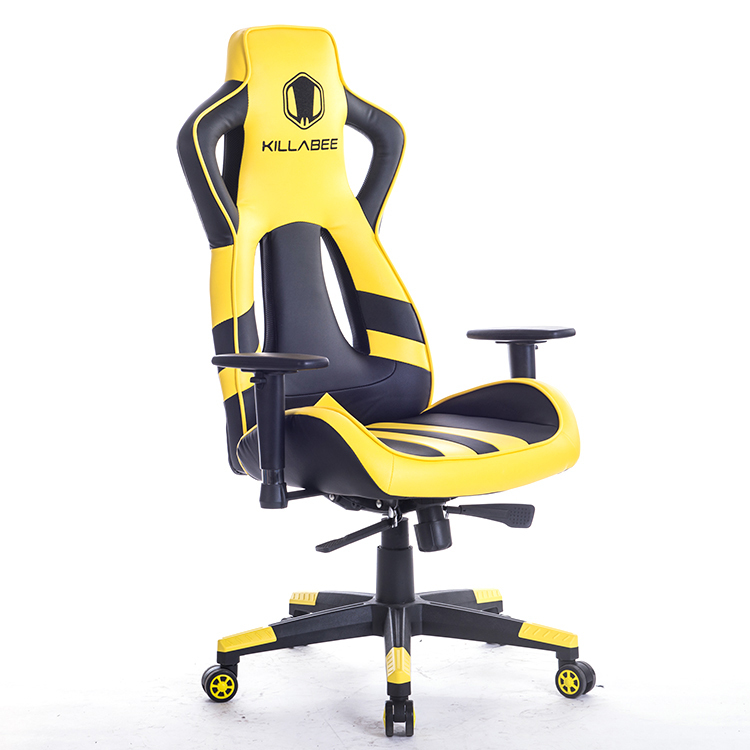 Leather Game Artificial Chair Office Chairs With Pillow Foot Pad Seat Back Adjustable Lifting Tilt Swivel Chair HWC